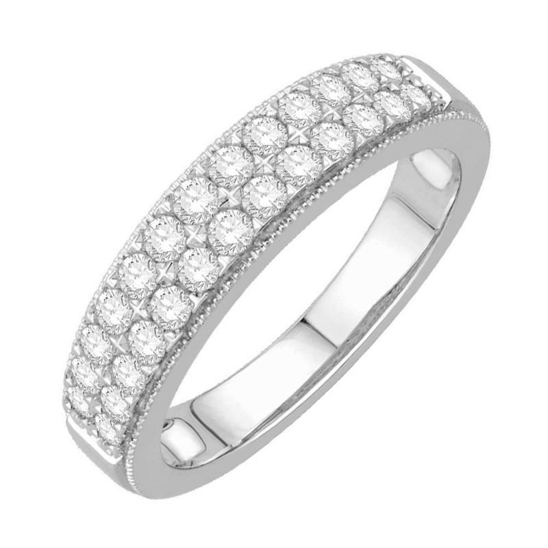 9k White Gold Diamond Eternity ring, Joséphine