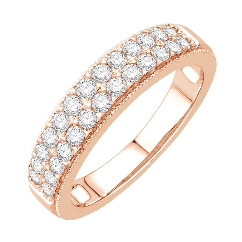9k Rose Gold Diamond Eternity ring, Joséphine