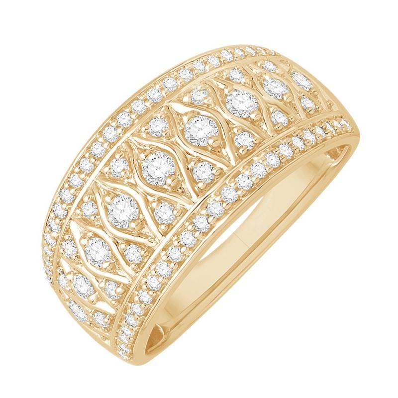 Bague or jaune 9 carats, Diamants, Joueuse