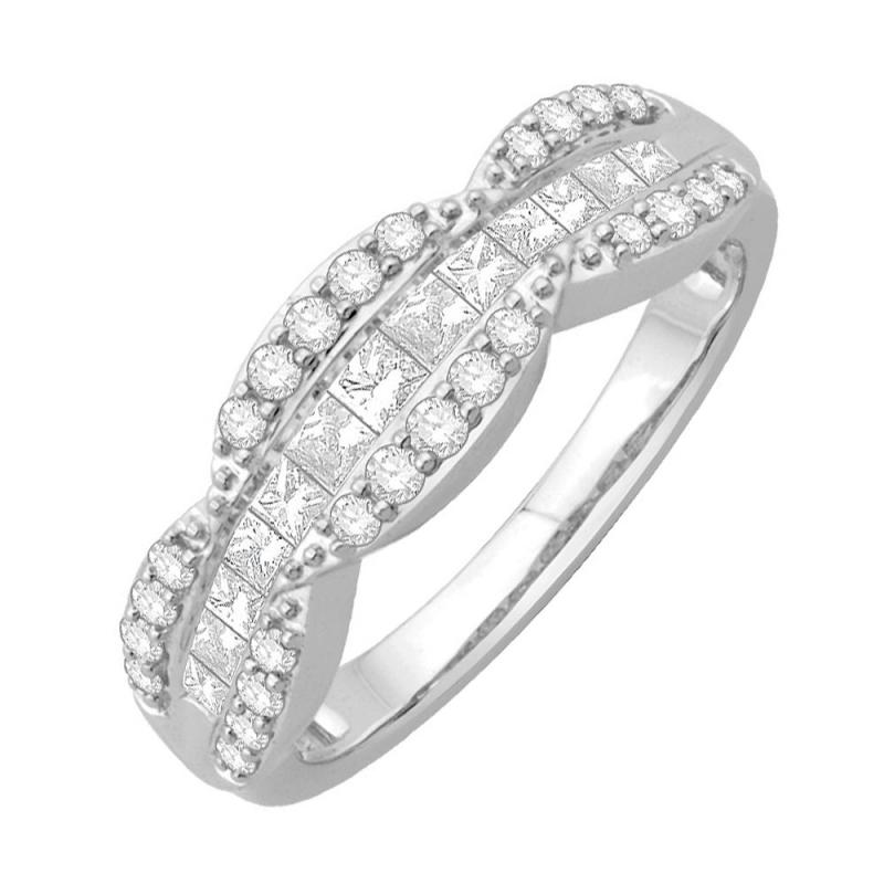 9k White Gold Diamond Eternity ring, Laena