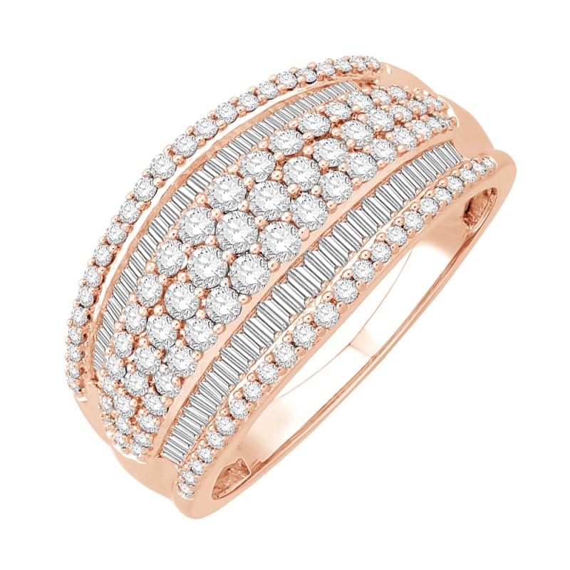 Bague or rose 9 carats, Diamants, Windsor