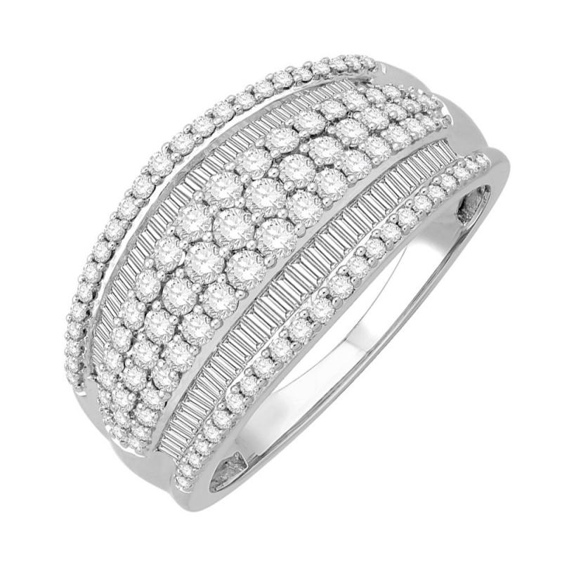 Bague or blanc 9 carats, Diamants, Windsor