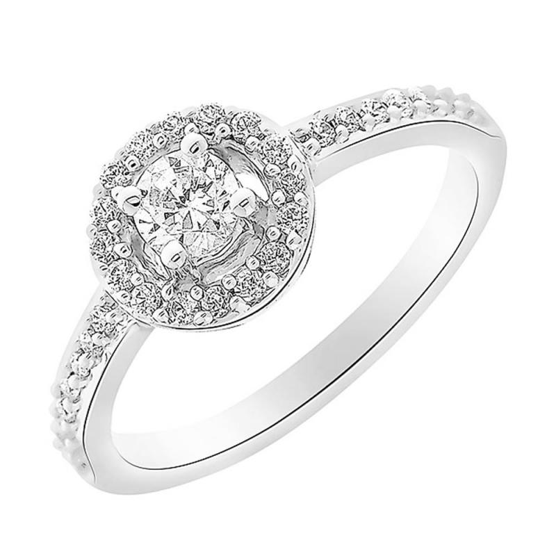 9k White Gold Diamond ring, Neysla