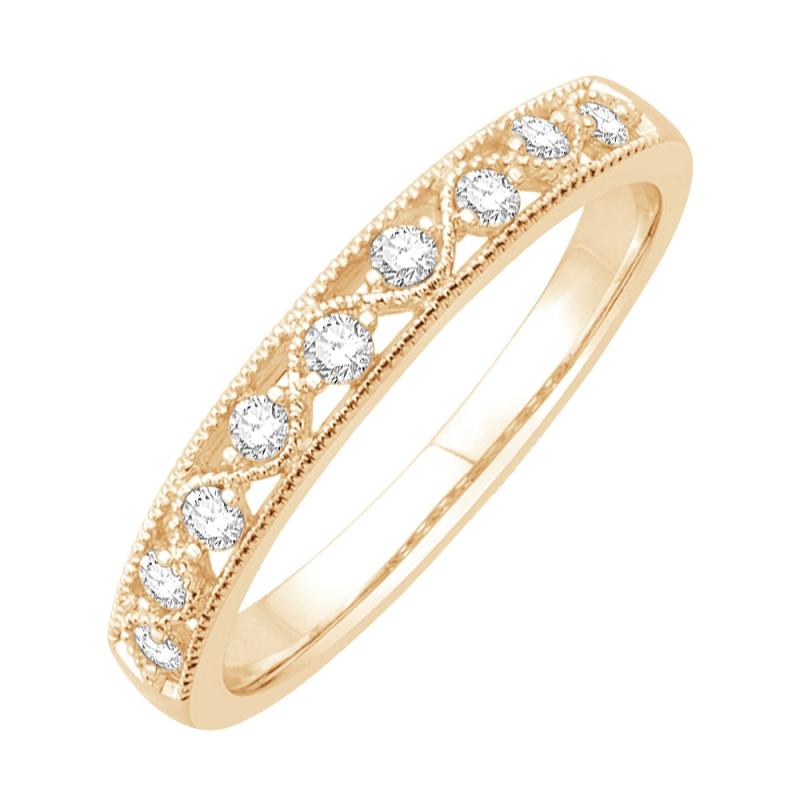 Bague or jaune 9 carats, Diamants, Shana