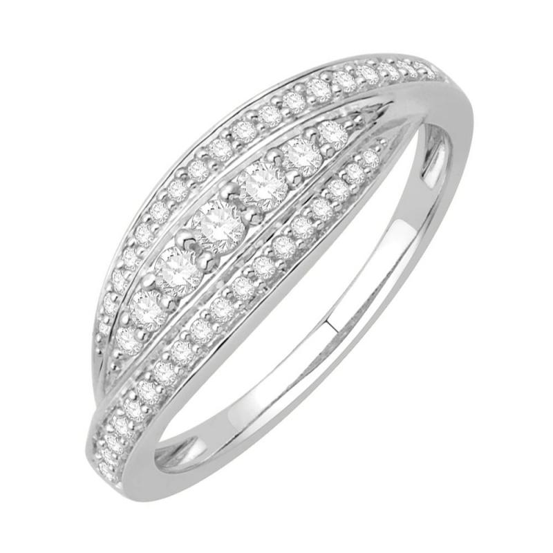 Bague or blanc 9 carats, Diamants, Scarlett