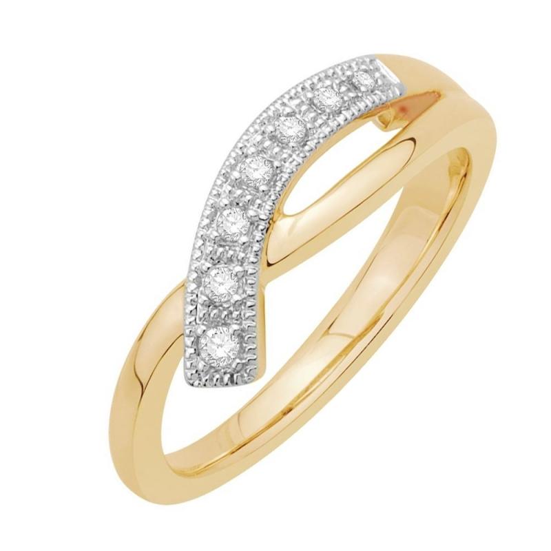 9k Yellow Gold Diamond Ring, Oriane