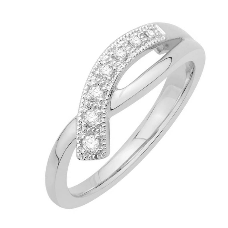Bague or blanc 9 carats, Diamants , Oriane