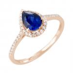 Amélie bague or rose saphir et diamants Diveene joaillerie