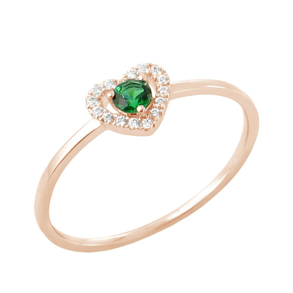 Anka bague or rose emeraude et diamants Diveene joaillerie
