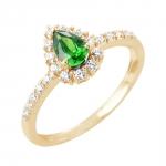Claira bague or jaune 18 carats emeraude et diamants Diveene joaillerie