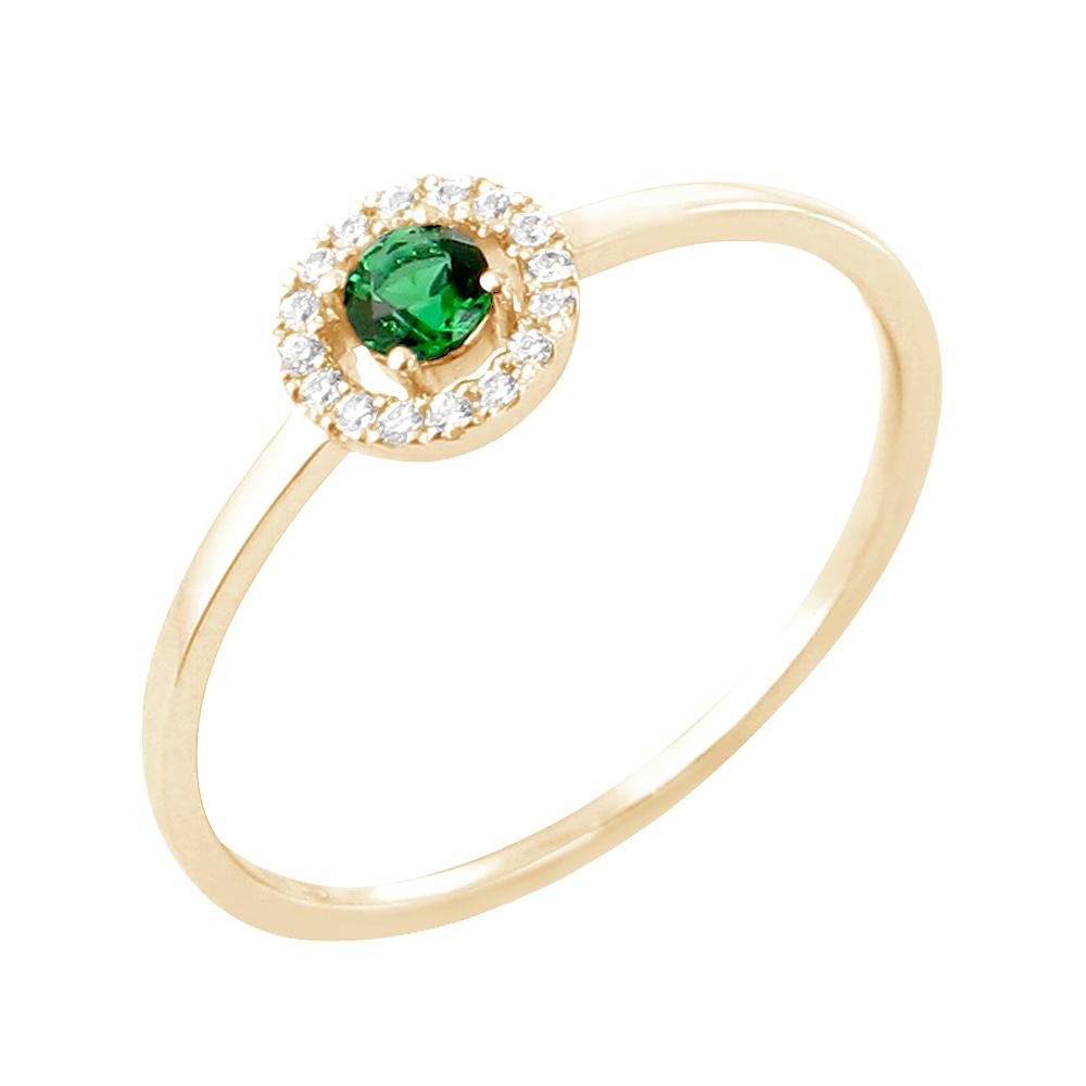 Faith bague or jaune 18 carats emeraude et diamants Diveene joaillerie