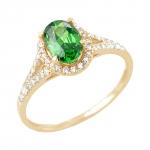 Jade bague or jaune 18 carats emeraude et diamants Diveene joaillerie
