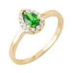 Kirsten bague or jaune 18 carats emeraude et diamants Diveene joaillerie