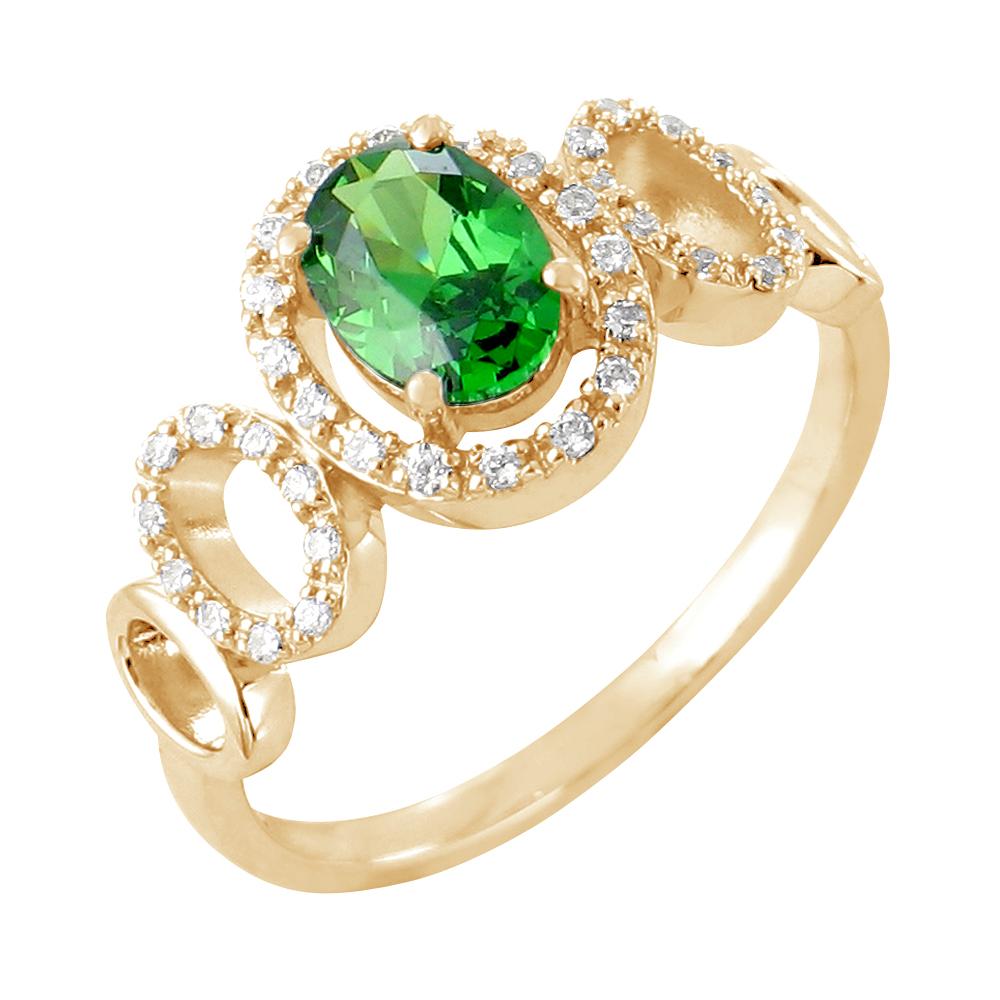 Lucinda bague or jaune 18 carats emeraude et diamants Diveene joaillerie