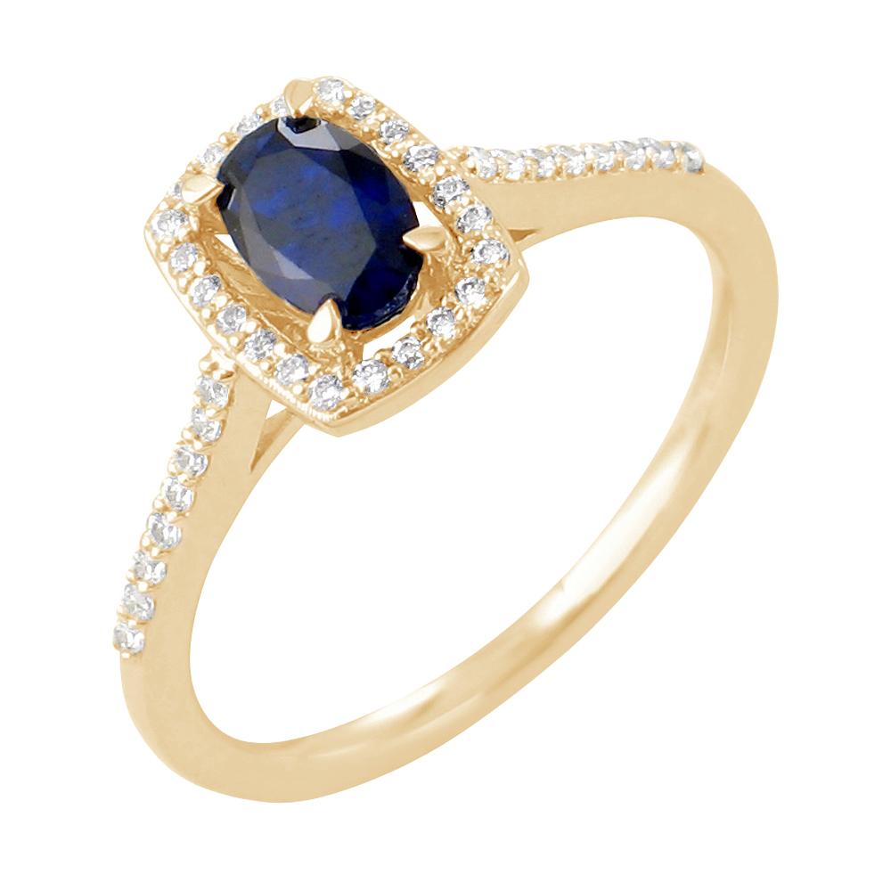 Astrid bague or jaune saphir et diamants Diveene joaillerie