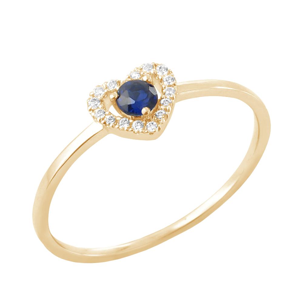 Augustine bague or jaune saphir et diamants Diveene joaillerie