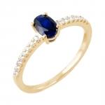Diane bague or jaune 18 carats saphir et diamants Diveene joaillerie