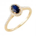 Frija bague or jaune 18 carats saphir et diamants Diveene joaillerie