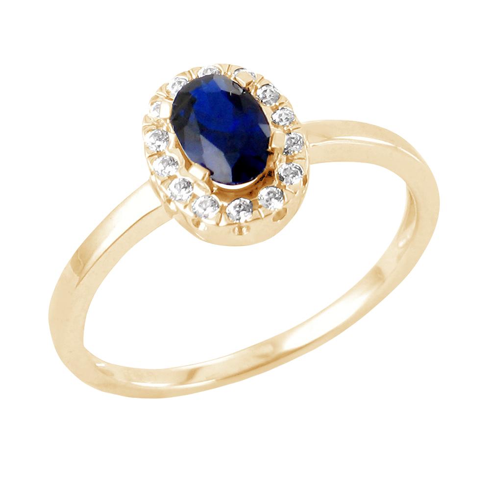 Katalyn bague or jaune 18 carats saphir et diamants Diveene joaillerie