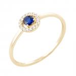 Paola bague or jaune 18 carats saphir et diamants Diveene joaillerie