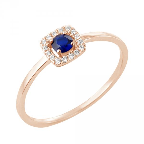 Enia bague or rose 18 carats saphir et diamants Diveene joaillerie