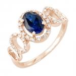 Frida bague or rose 18 carats saphir et diamants Diveene joaillerie