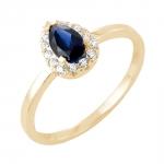 Samsara bague or jaune 18 carats saphir et diamants Diveene joaillerie