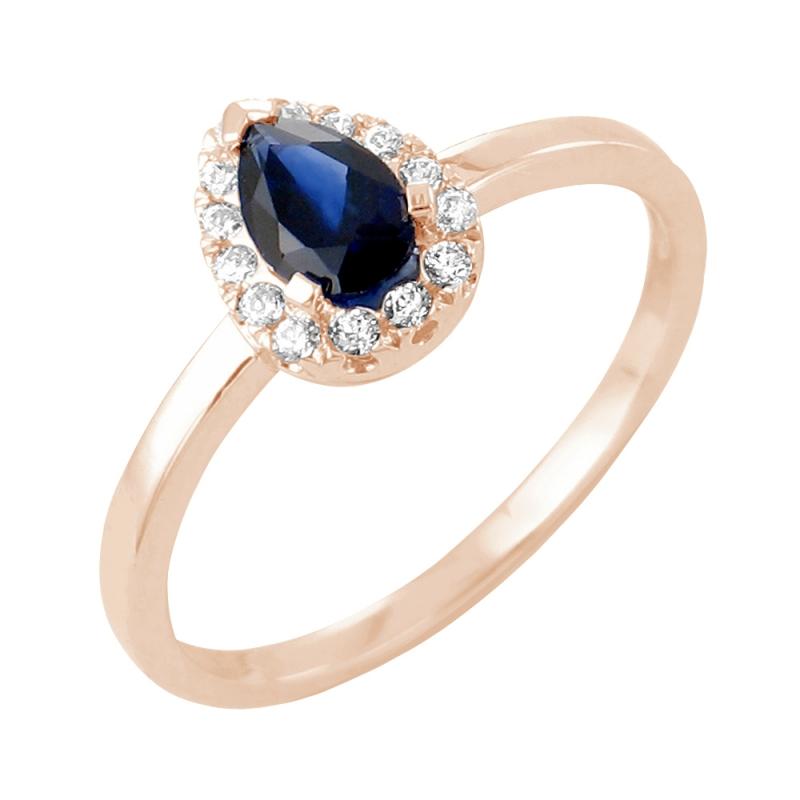 Bague or rose, Saphir et Diamants , Samsara