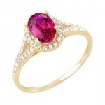 Rayssa bague or jaune 18 carats rubis et diamants Diveene joaillerie