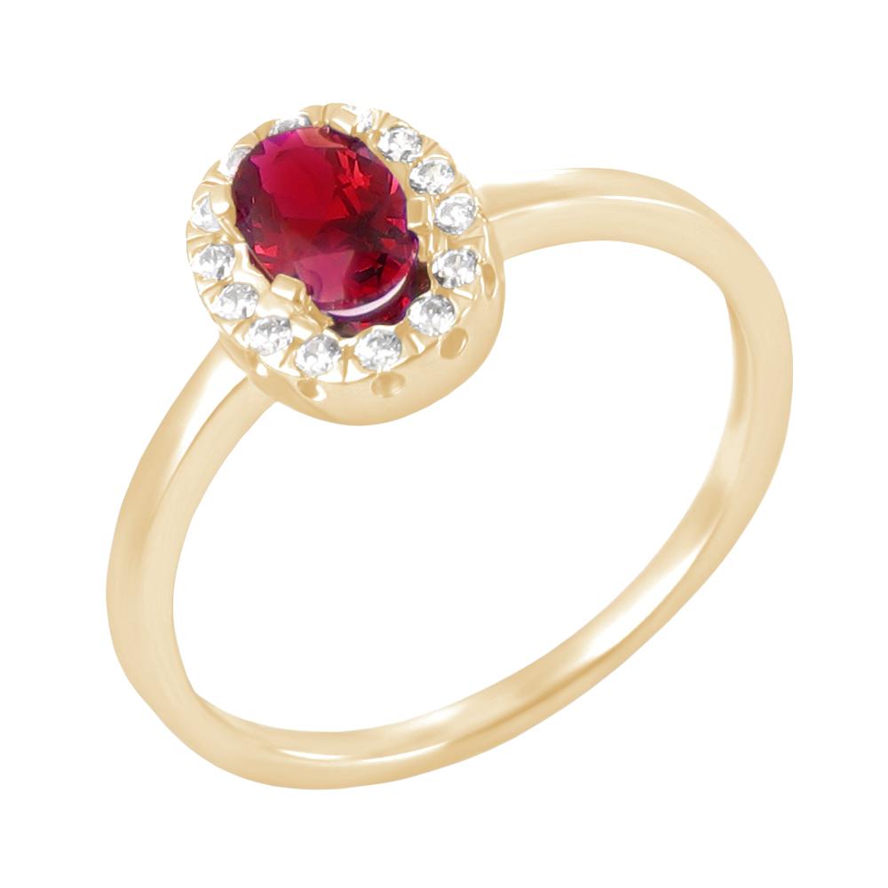 Saba bague or jaune 18 carats rubis et diamants Diveene joaillerie
