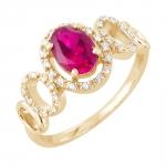 Vika bague or jaune 18 carats rubis et diamants Diveene joaillerie