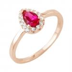 Helena bague or rose 18 carats rubis et diamants Diveene joaillerie