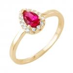Helena bague or jaune 18 carats rubis et diamants Diveene joaillerie