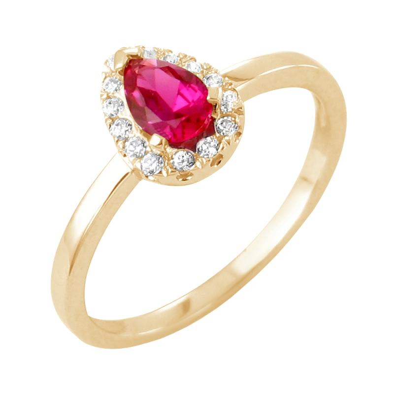 Bague en or, Rubiset Diamants , Helena