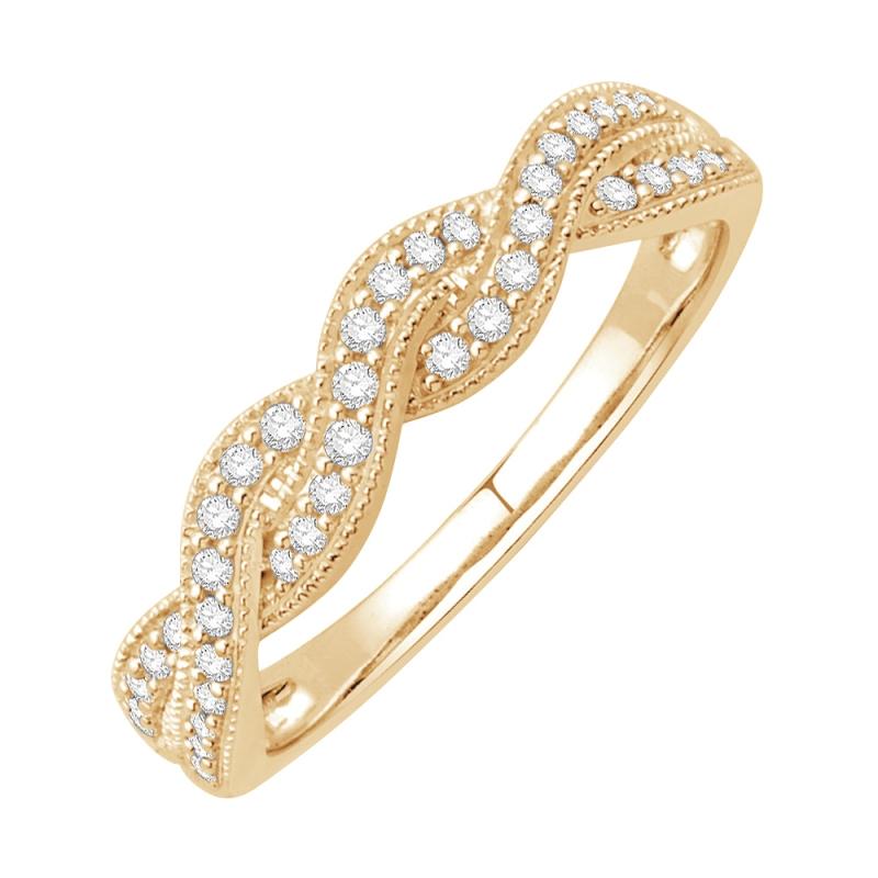 Bague or jaune, Diamants , Kenzy
