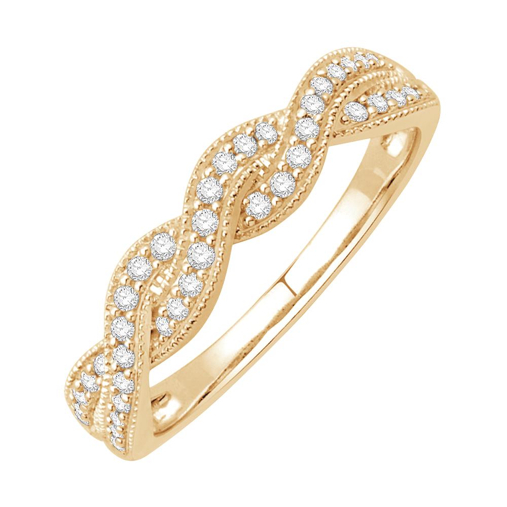 kenzy bague alliance or jaune et diamants diveene joaillerie