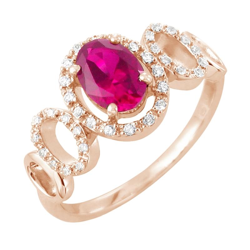 Bague or, Rubis et Diamants , Vika