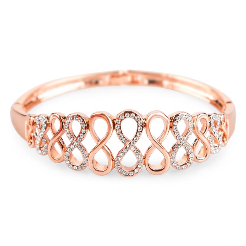 Bracelet doré àl'or fin, Cristal Swarovski , Lola