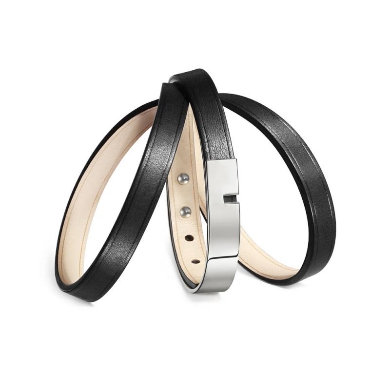 Bracelet Cuir Acier, Ursul Paris, Choix couleur , U-Turn Triple