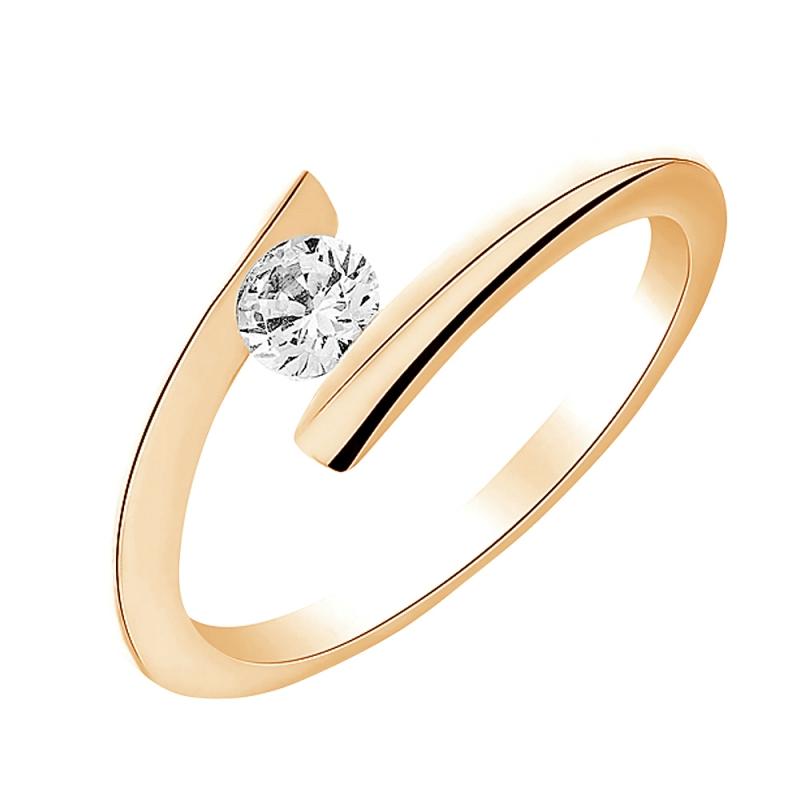 Solitaire or jaune, Diamant , Cosmo 0.10 Ct