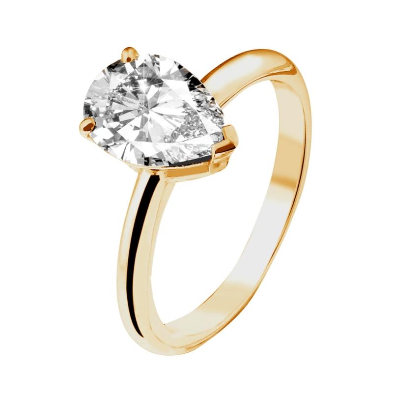 Solitaire or jaune, Diamant , Love Junkie