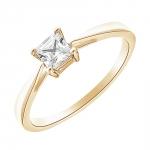 Princess Solitaire en or jaune et Diamants Diveene Joaillerie
