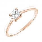 Princess Solitaire en or rose et Diamants Diveene Joaillerie