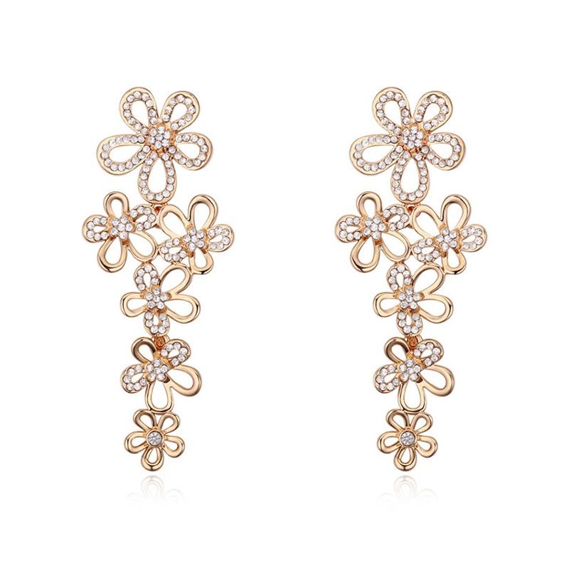 Boucles d'oreilles plaqué or rose, cristal Swarovski , Melina