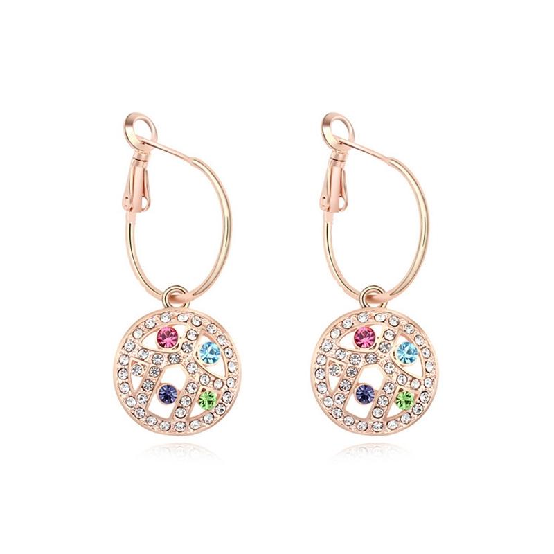 Boucles d'oreilles plaqué or rose, Cristal Swarovski , Lena