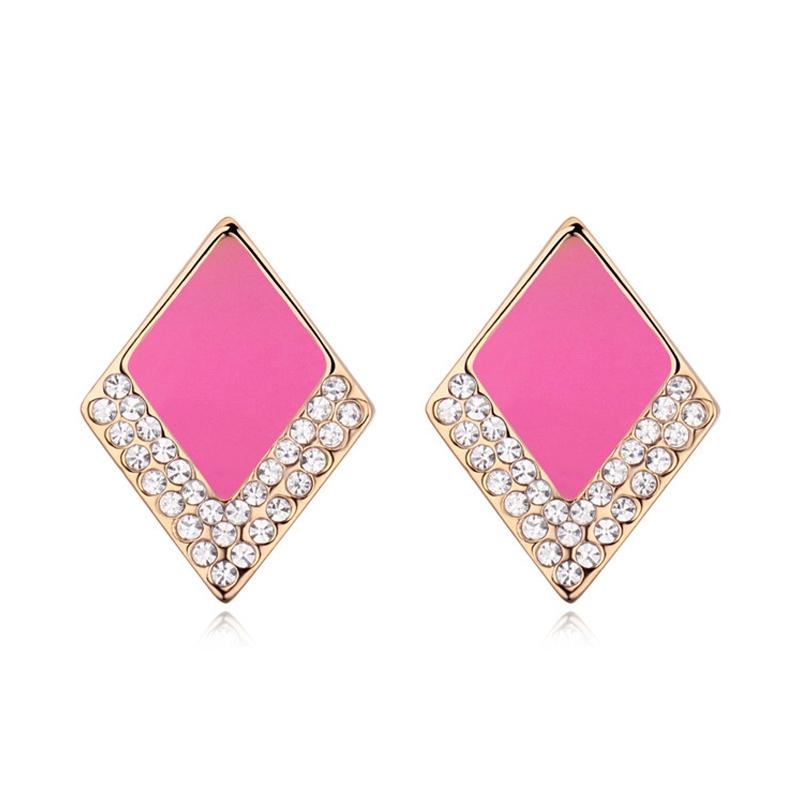 Boucles d'oreilles finitionor rose, cristal Swarovski , Fashionista