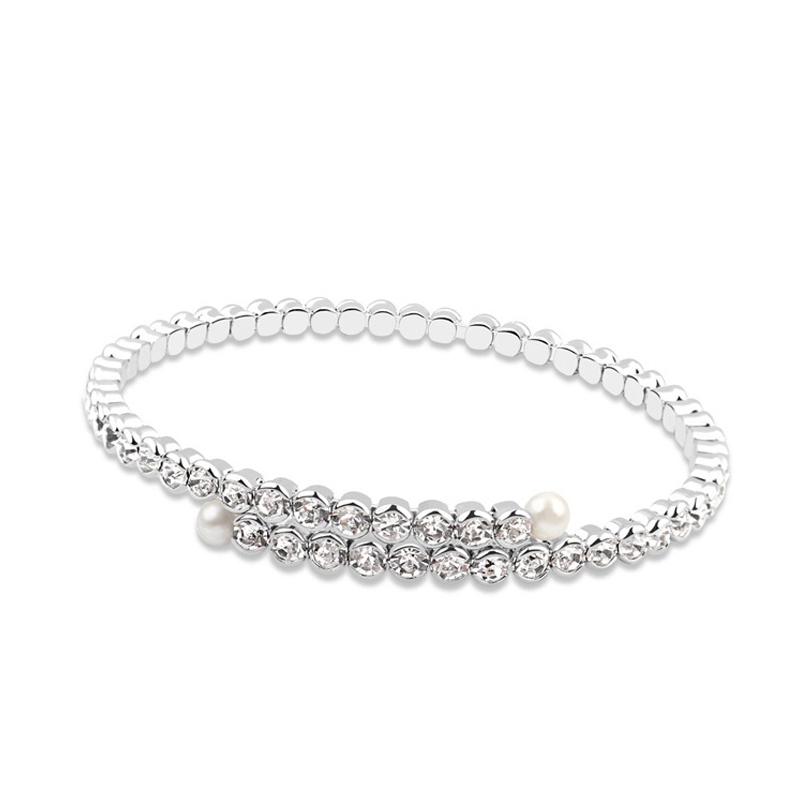 Bracelet rhodié, cristal Swarovski , Shine
