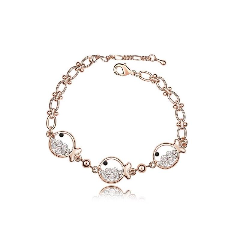 Bracelet doré or rose, cristal Swarovski , Paola