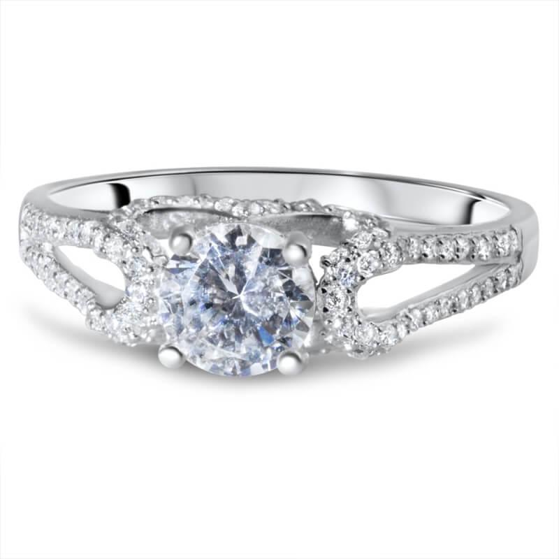 Sterling Silver Zirconia Ring, Lady Princess