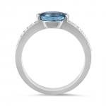 bague rosamund haute joaillerie parisienne or diamants et aigue marine fabrication artisanale diveene joaillerie
